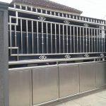 desain pagar stainless steel